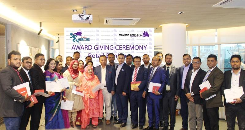 """Meghna Bank Ltd celebrates the award giving ceremony of """"CASA Heroes"""" Campaign"""