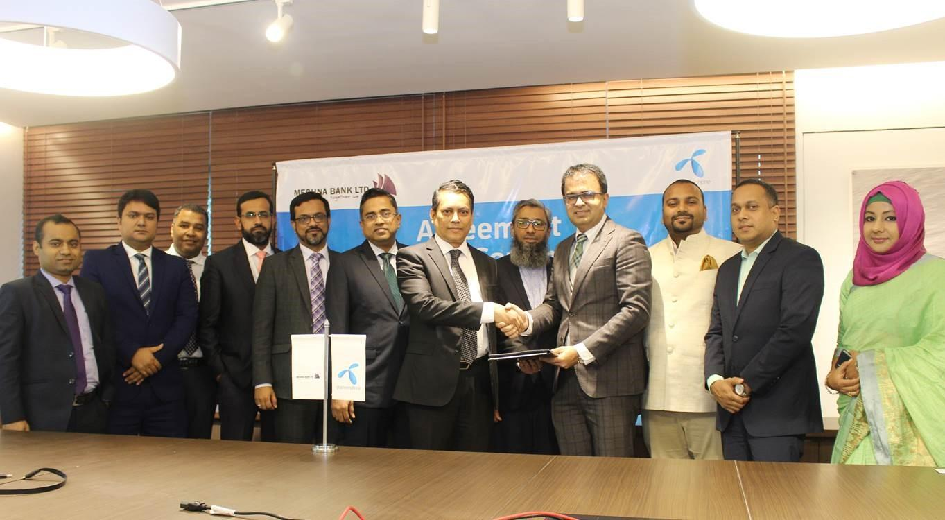MEGHNA BANK LTD SIGNED CORPORATE AGREEMENT WITH GRAMEENPHONE.